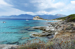 Towards Lotu Beach, Corsica Stock Photography