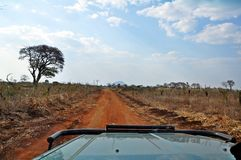 Towards the Malawi Border from Cuamba Mozambique. Driving towards the Malawi border from Cuamba in Niassa Province, Norther Mozambique Stock Photography