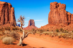 Towards North Window overlook. Monument Valley, Navajo Tribal Park, Utah, USA Royalty Free Stock Photo