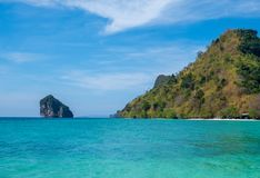 Islands in Krabi at midday. stock photos