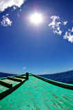 Towards the Sun. The crew is headed towards summer! The sun, the islands, the glorious beach Royalty Free Stock Photography