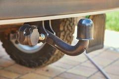 Towbar на автомобиле стоковое изображение