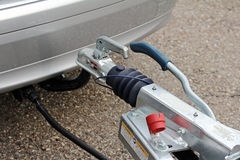 Towbar and trailer Stock Photos