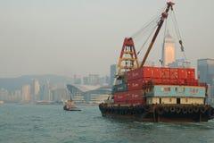 Towboat & barca Fotos de Stock Royalty Free