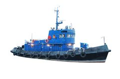 Towboat. The image of a towboat Royalty Free Stock Photos
