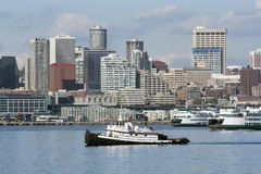 Towboat in Seattle Lizenzfreie Stockfotos