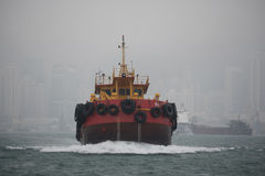 Towboat in Victoria Harbor Royalty Free Stock Images
