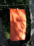 Towel. Drying in the wind Royalty Free Stock Image