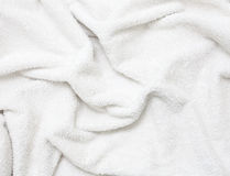 Towel. A white towel texture background Stock Photography