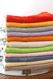 Towel. Pastel colors of towel .Home or hotel royalty free stock photography
