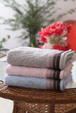 Towel. Pastel colors of towel .Home or hotel stock photos