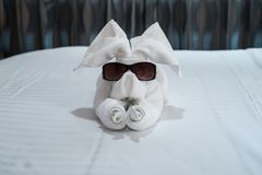 Towel Animal Stock Photo