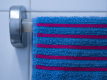 Towel in bathroom Stock Images