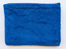 Towel  blue folded Royalty Free Stock Photo