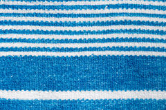 Towel with blue stripes. macro photography Stock Photos