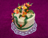 Towel cake gift . Royalty Free Stock Images