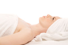 Towel clad Royalty Free Stock Image