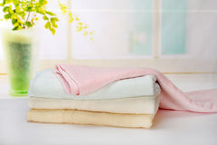 Towel. On clean background Stock Images