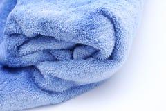 Towel closeup. Big blue bath towel closeup Stock Photography