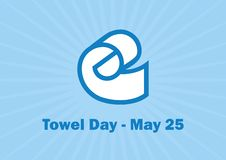 Free Towel Day Vector Royalty Free Stock Photos - 145298538
