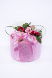 Towel decoration of roses on top . Royalty Free Stock Image