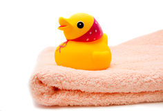Towel and Duck Stock Images