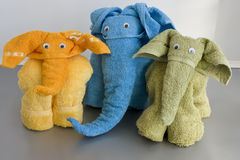 Towel elefants Royalty Free Stock Image