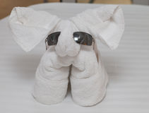 Towel elephant Stock Image