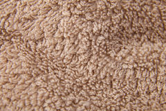 Towel fabric closeup. Closeup detail of a brown towel Royalty Free Stock Photo