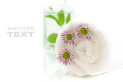 Towel with flowers Stock Image