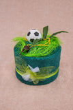 Towel football gift . Royalty Free Stock Images