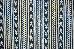 Towel with geometric ornamental pattern Stock Photos