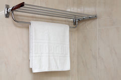 Towel on a hanger Royalty Free Stock Image