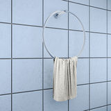Towel hanger on the blue tile. 3d rendering Royalty Free Stock Photography