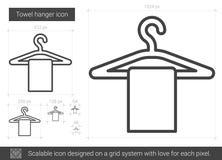 Towel hanger line icon. Stock Photos