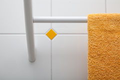 Towel holder closeup Royalty Free Stock Photos