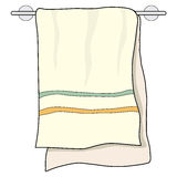 Towel, home related object Royalty Free Stock Photos