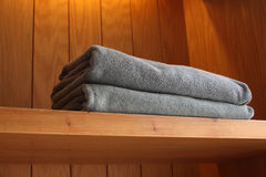 Towel in hotel Stock Photos