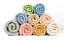 Towel isolated Stock Images
