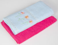 Towel. Kitchen towel on a background Royalty Free Stock Images