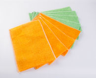 Towel or kitchen towel on a background. Stock Photo