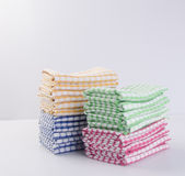 Towel or kitchen towel on a background. Stock Photos