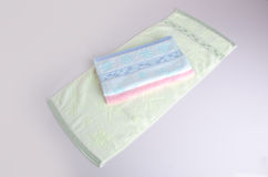 Towel. Kitchen towel on background. Kitchen towel on a backgroun Stock Photos