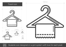 Towel line icon. Royalty Free Stock Images