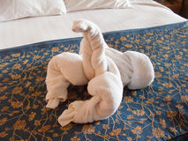 Towel lobster origami Royalty Free Stock Image