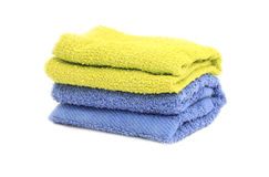 Towel over white Stock Images