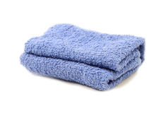 Towel over white Stock Image