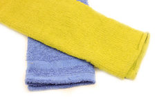 Towel over white Stock Photo