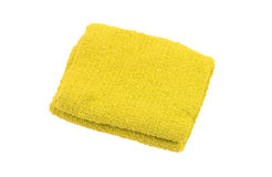 Towel over white Stock Photos