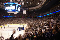 Towel Power in the NHL. Towel Power during Vancouver Canucks game Stock Image
